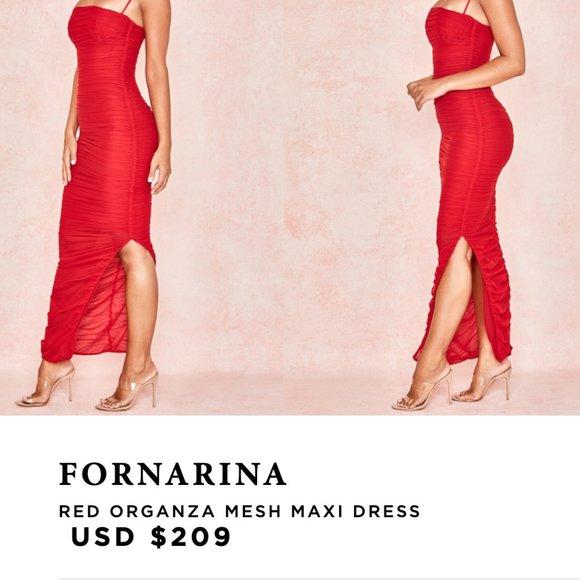 House of CB FORNARINA MESH MAXI DRESS
